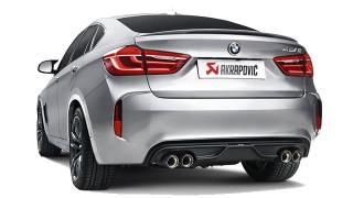 Akrapovič Evolution per BMW X5 M e BMW X6 M: progettato per migliorare l'estetica e aumentare la sensazione di guida sportiva.