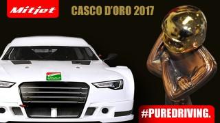 Bruno Zanini riceve il Casco d'Oro diAutosprint per la stagione 2017 di Mitjet Italian Series