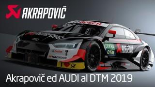 """Audi veste Akrapovic: scopri la vettura che parteciperà al DTM con """"Rocky""""."""